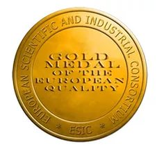 The Gold medal for the European quality of the European Scientific and Industrial Consortium (ЕSIC), 2016 год